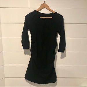 Black Bodycon Maternity Dress